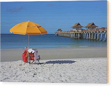 The Naples Pier Wood Print by Robb Stan