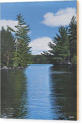 The Narrows Of Muskoka Wood Print