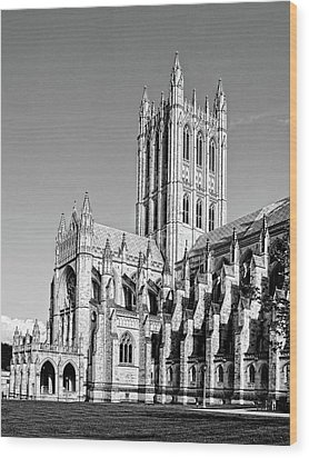 The National Cathedral In Washington Dc Wood Print by Brendan Reals