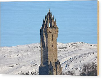 The National Wallace Monument Wood Print by RKAB Works