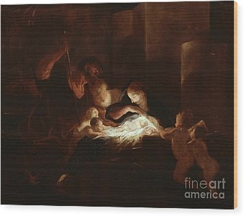 The Nativity Wood Print by Pierre Louis Cretey or Cretet