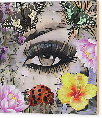 The Nature Girl Wood Print
