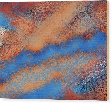 The Nebulous Future Wood Print by Shelly Stallings