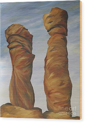 Wood Print featuring the painting The Needles Chiriahua by Christiane Schulze Art And Photography