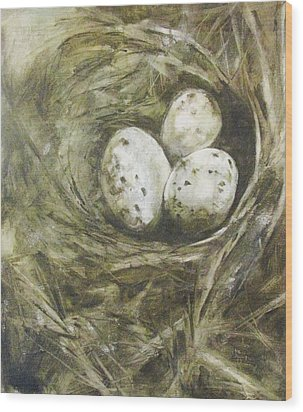 The Nest Wood Print by Donna Thomas