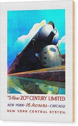 The New 20th Century Limited New York Central System 1939 Leslie Ragan Wood Print by Peter Gumaer Ogden Collection