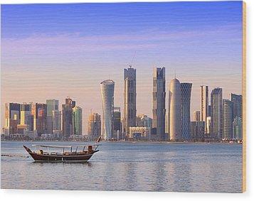 The New Doha Wood Print