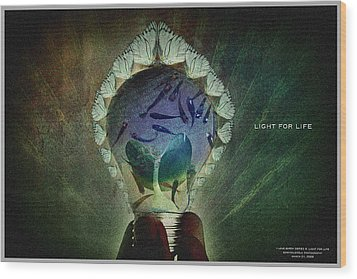 The New Life Wood Print by Edwin Loyola