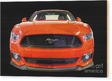 The New Mustang Wood Print by Vicki Spindler