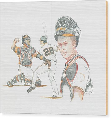 The New Natural Buster Posey Wood Print by Phil  King
