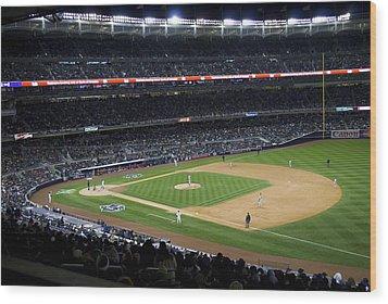 The New Yankee Stadium Wood Print by Andrew Kazmierski