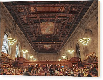 Wood Print featuring the photograph The New York Public Library by Jessica Jenney