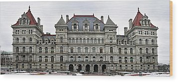 Wood Print featuring the photograph The New York State Capitol In Albany New York by Brendan Reals
