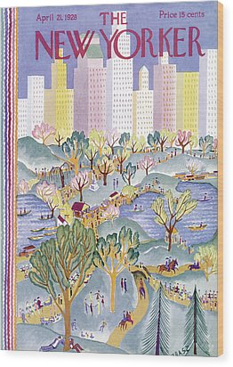 The New Yorker Cover - April 21st, 1928 Wood Print