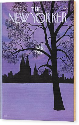 The New Yorker Cover - January 22nd, 1972 Wood Print by Charles E Martin