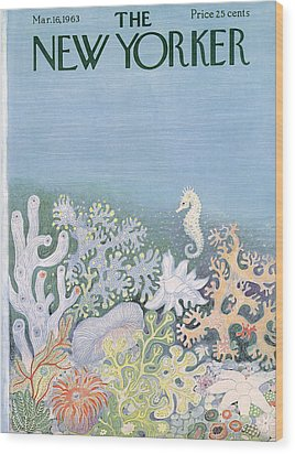 The New Yorker Cover - March 16th, 1963 Wood Print by Conde Nast