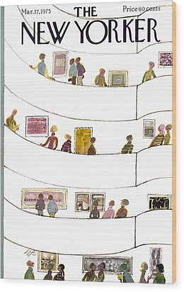 The New Yorker Cover - March 17th, 1975 Wood Print by Laura Jean Allen