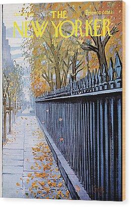 Autumn In New York Wood Print