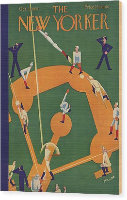 The New Yorker Cover - October 5th, 1929 Wood Print