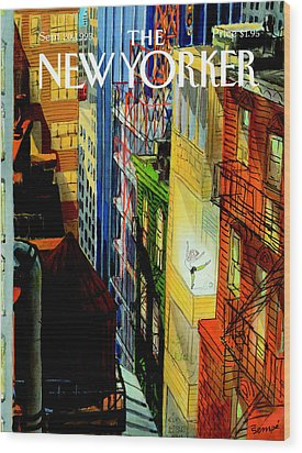 The New Yorker Cover - September 20th, 1993 Wood Print by Jean-Jacques Sempe