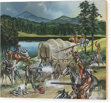 The Nez Perce Wood Print by Ron Embleton
