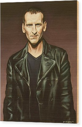 The Ninth Doctor Wood Print by Emily Jones