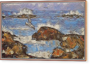 Wood Print featuring the painting The Noise Of The Waves 3 by Pemaro