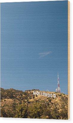 The Nora Ephron Shot - Beachwood Canyon Wood Print by Natasha Bishop