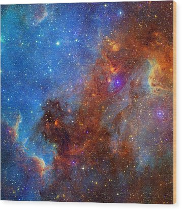 Wood Print featuring the photograph The North America Nebula In Different Lights by NASA JPL - Caltech
