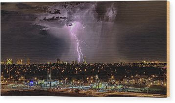 The North American Monsoon Wood Print
