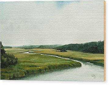 The North River Wood Print