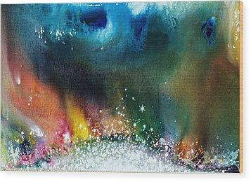 The Northern Lights Of Andromeda Wood Print by Lee Pantas