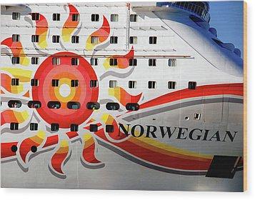 The Norwegian Sun Bow Wood Print by Susanne Van Hulst