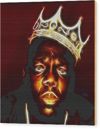The Notorious B.i.g. - Biggie Smalls Wood Print by Paul Ward