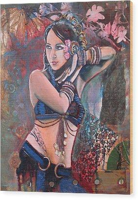 The Nouveau Gypsy Wood Print by Stephanie Bolton