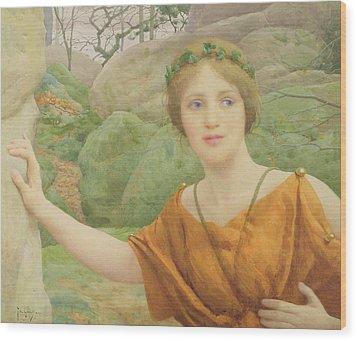 The Nymph Wood Print by Thomas Cooper Gotch