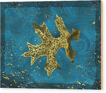 The Oak Leaf And The Wind Storm Wood Print by Tim Allen