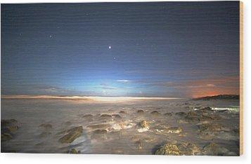 The Ocean Desert Wood Print