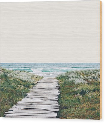 The Ocean Is Calling And I Must Go  Wood Print by Uma Gokhale
