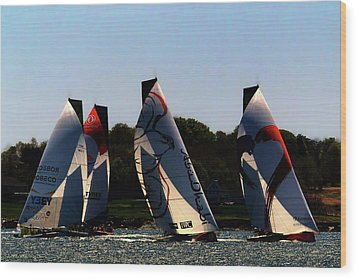 The Ocean Race Wood Print