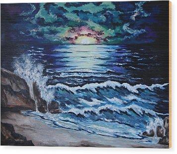 The Ocean Sings The Sky Listens Wood Print by Cheryl Pettigrew