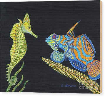 The Odd Couple Wood Print by Gerald Strine