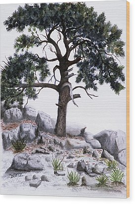 The Offering Tree Wood Print by Tom Dorsz