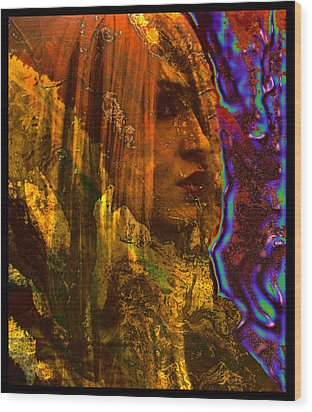 The Offworlder Wood Print by Adam Kissel
