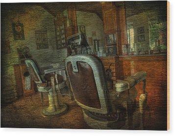 The Old Barbershop - Vintage - Nostalgia Wood Print by Lee Dos Santos
