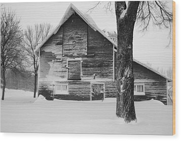 The Old Barn Wood Print by Julie Lueders