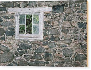 The Old Barn Window Wood Print