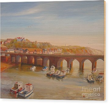 The Old Bridge - Folkestone Harbour Wood Print