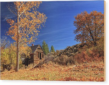 The Old Bunkhouse Landscape Wood Print by James Eddy