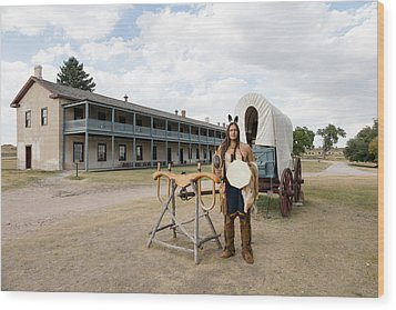 The Old Cavalry Barracks At Fort Laramie National Historic Site Wood Print by Carol M Highsmith